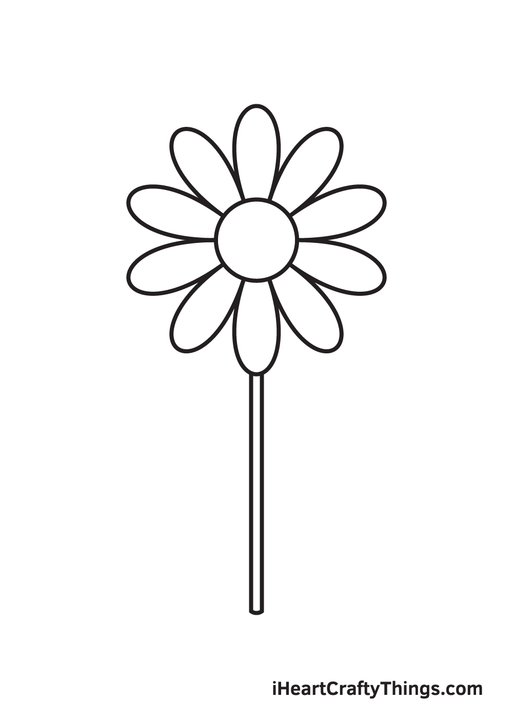 daisy drawing - step 5