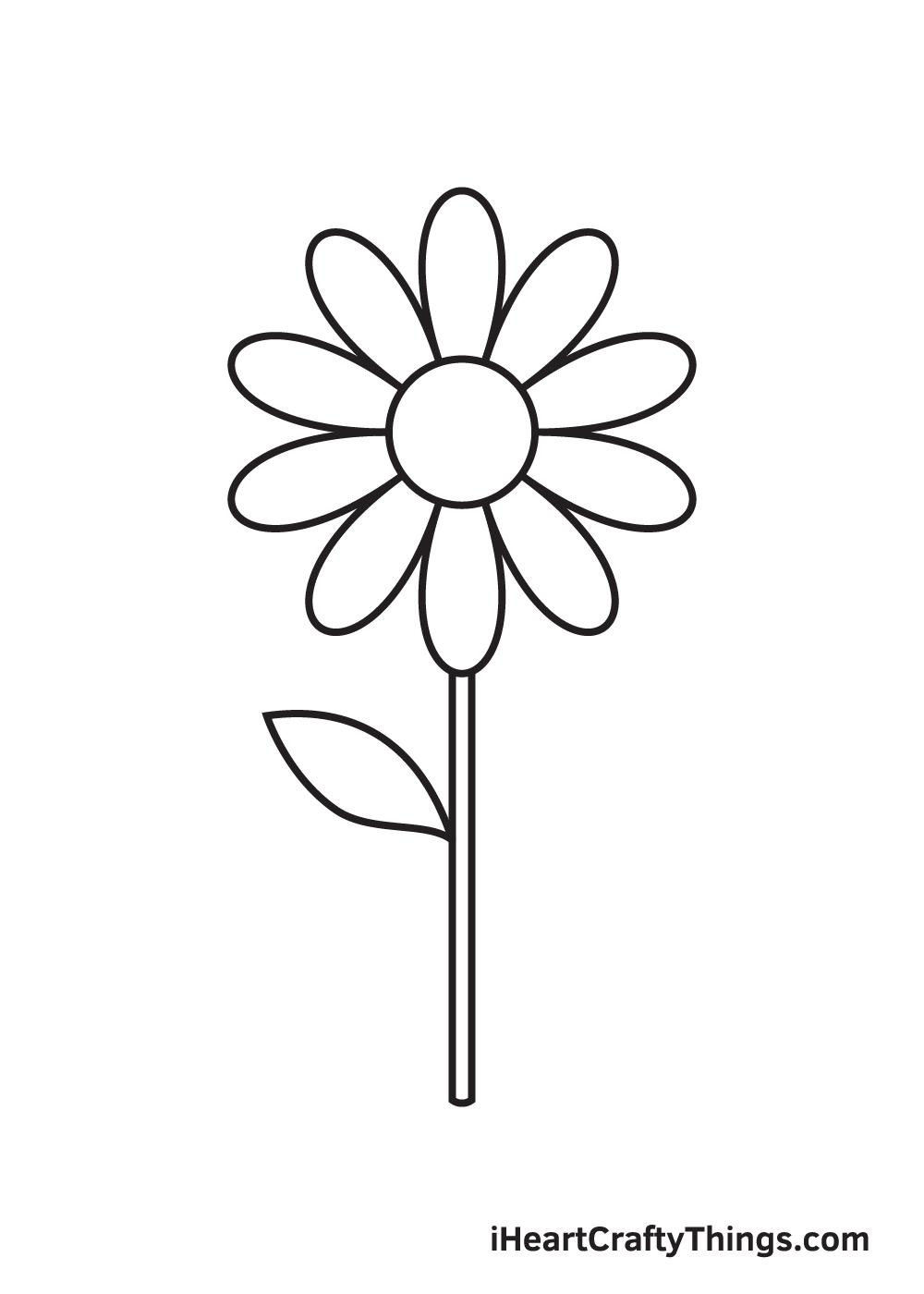 daisy drawing - step 6