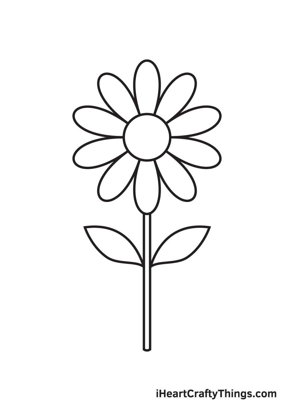 daisy drawing - step 7
