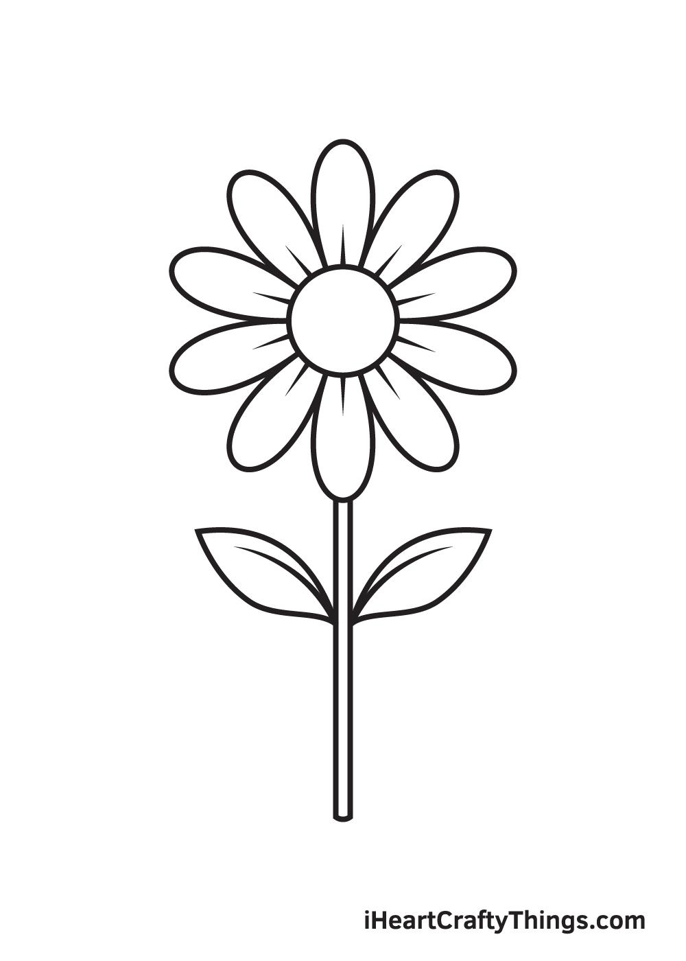 daisy drawing - step 8