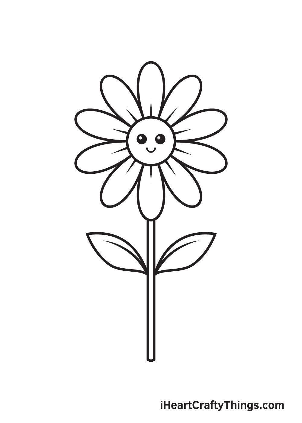 daisy drawing - step 9