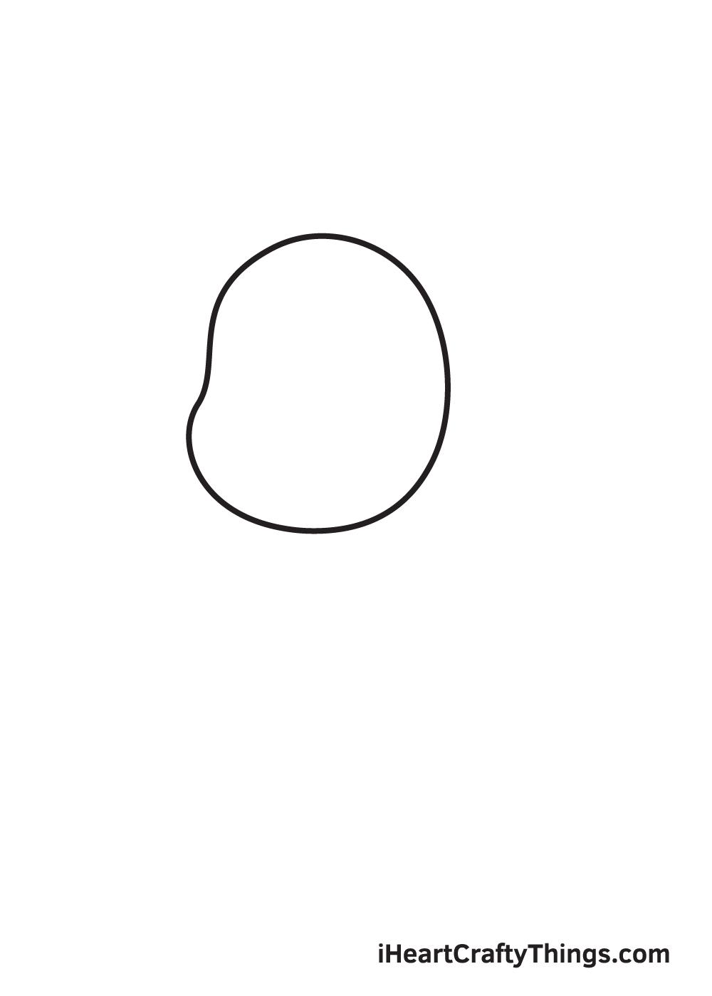 dog drawing - step 1