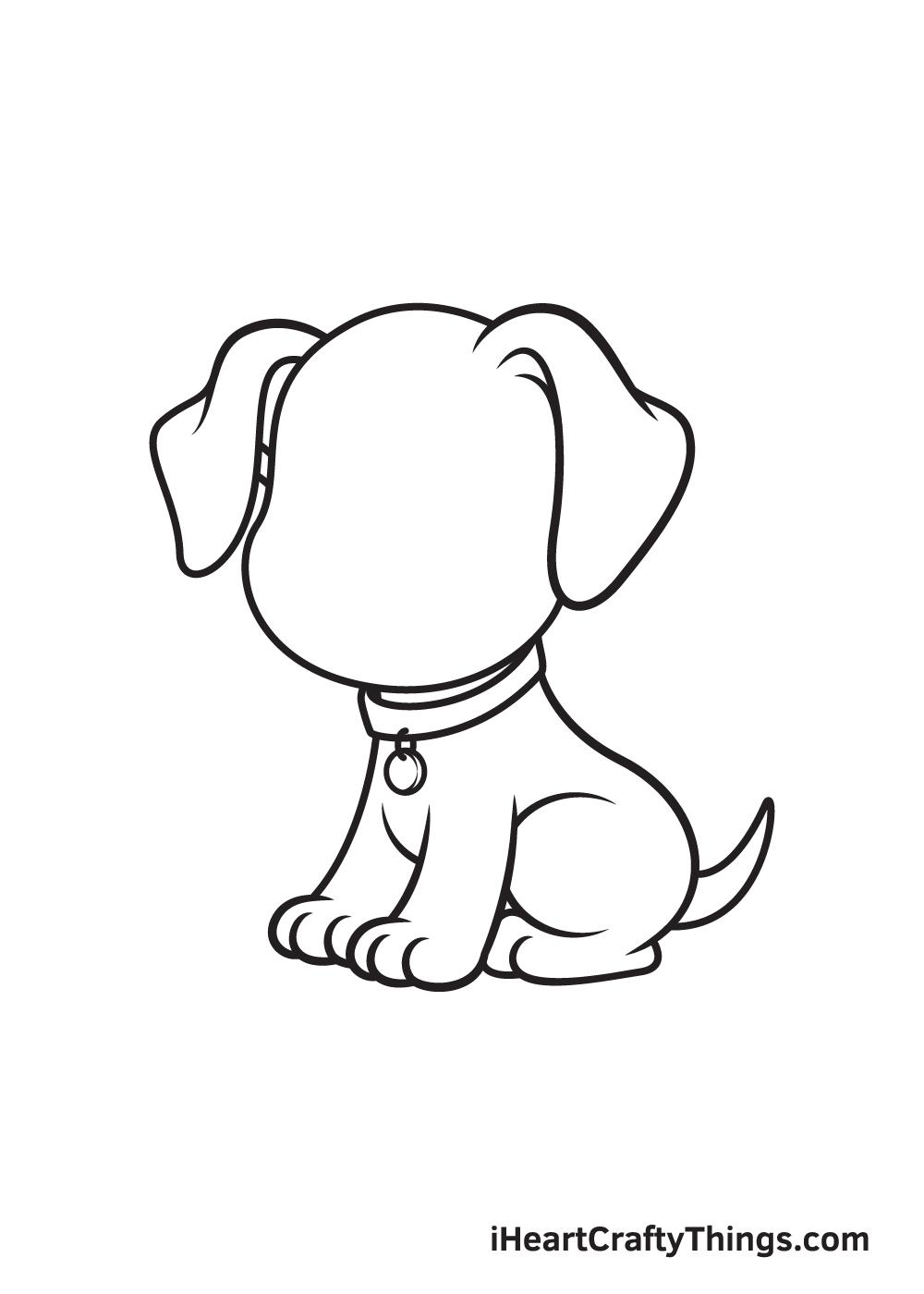 dog drawing - step 7