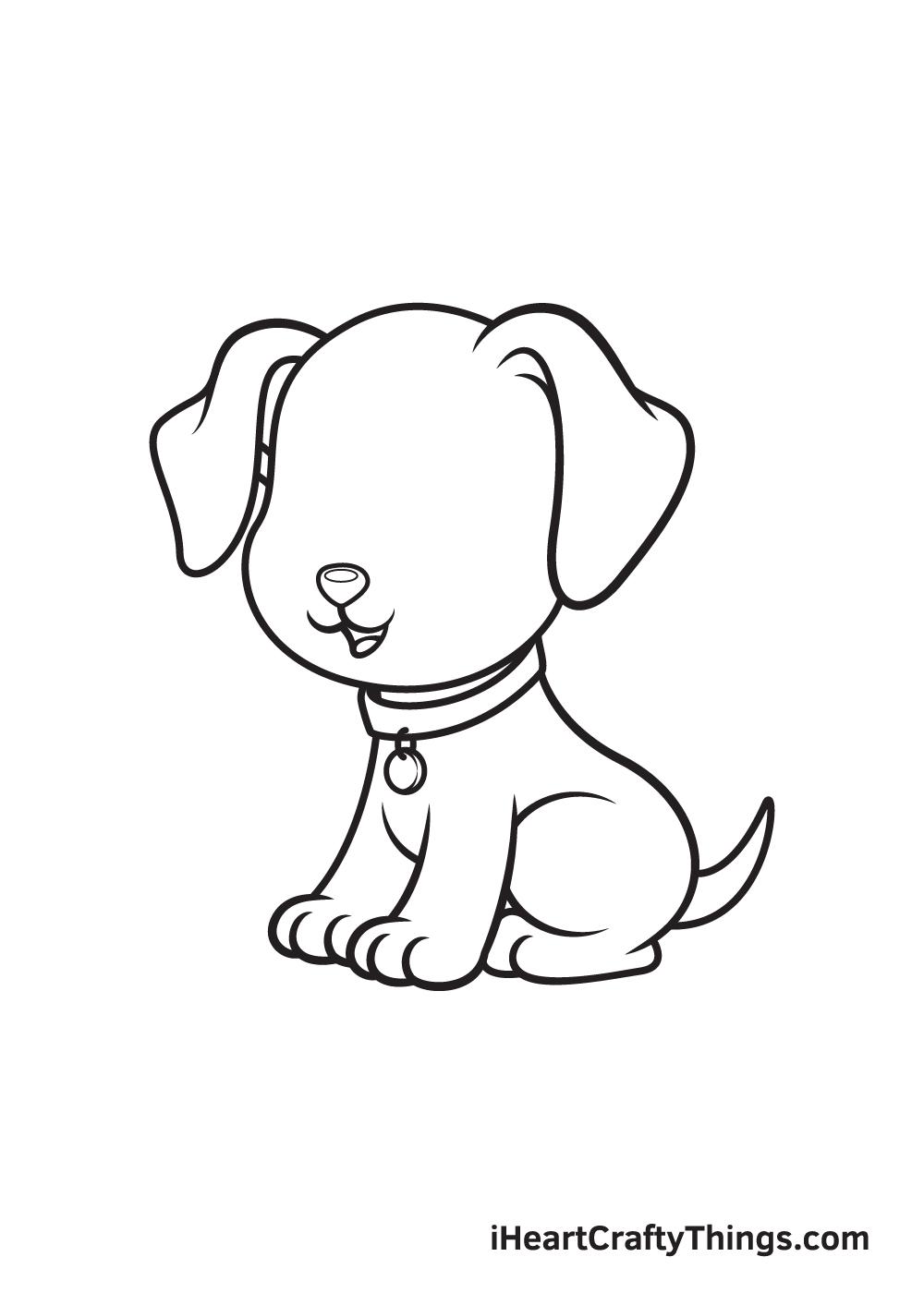 dog drawing - step 8