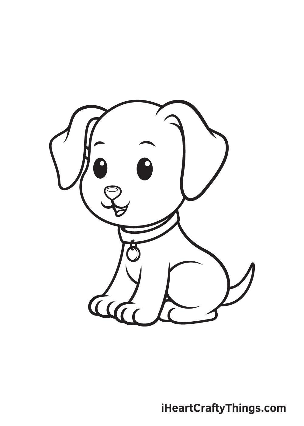 dog drawing - step 9