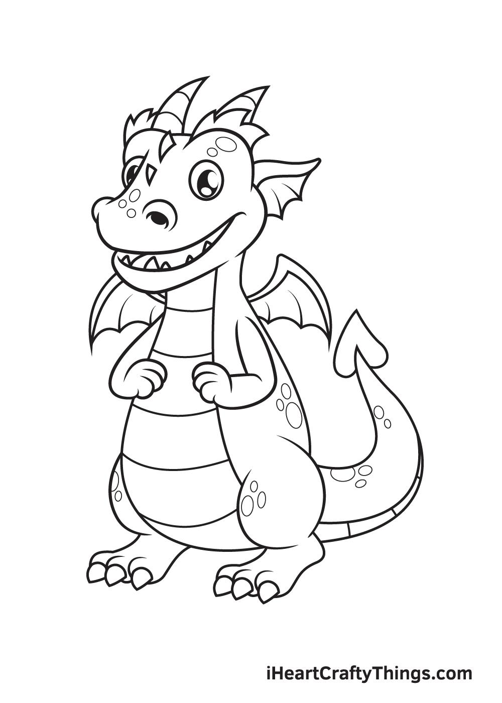 Dragon Drawing – Step 9