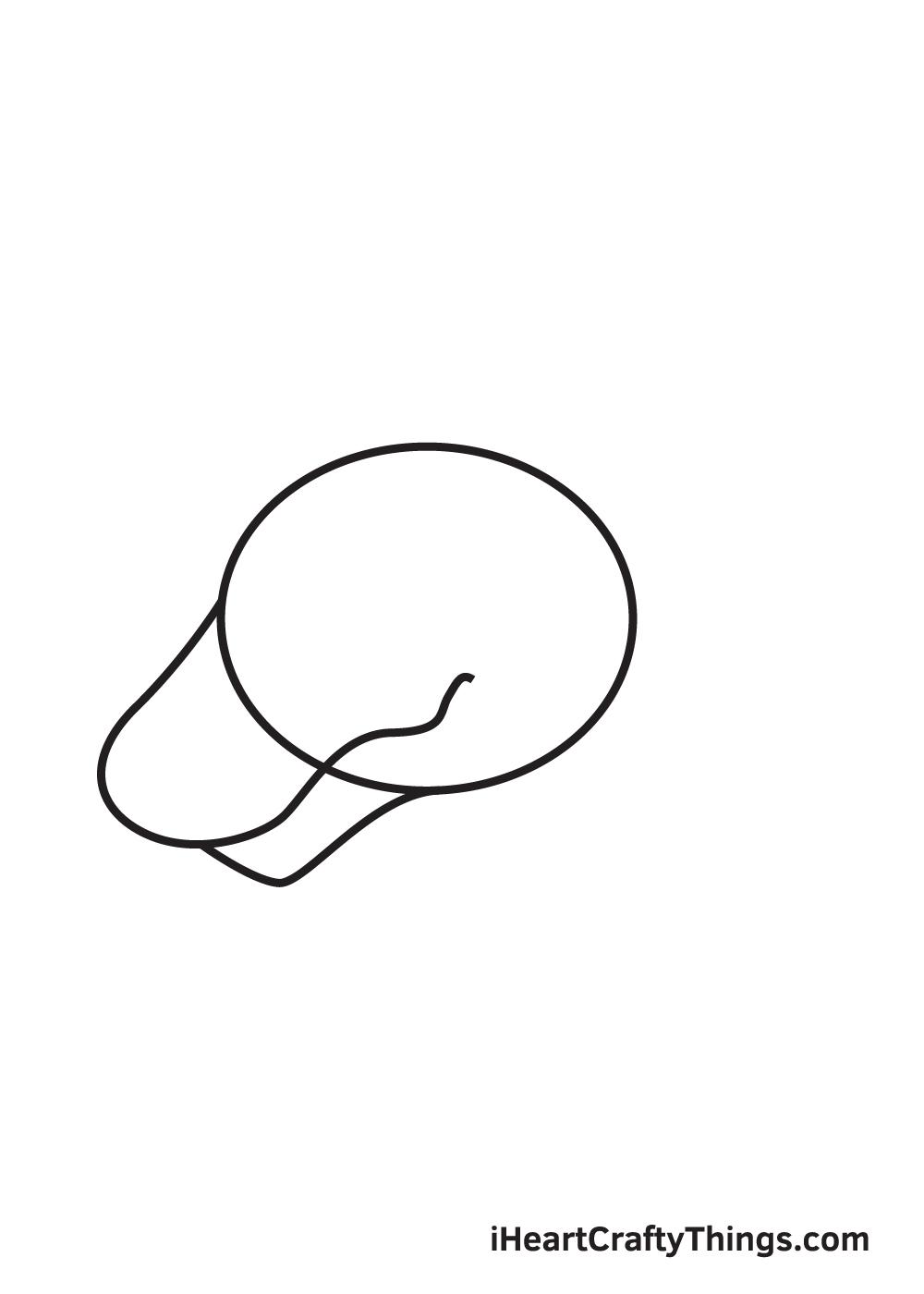 dragon head drawing - step 2