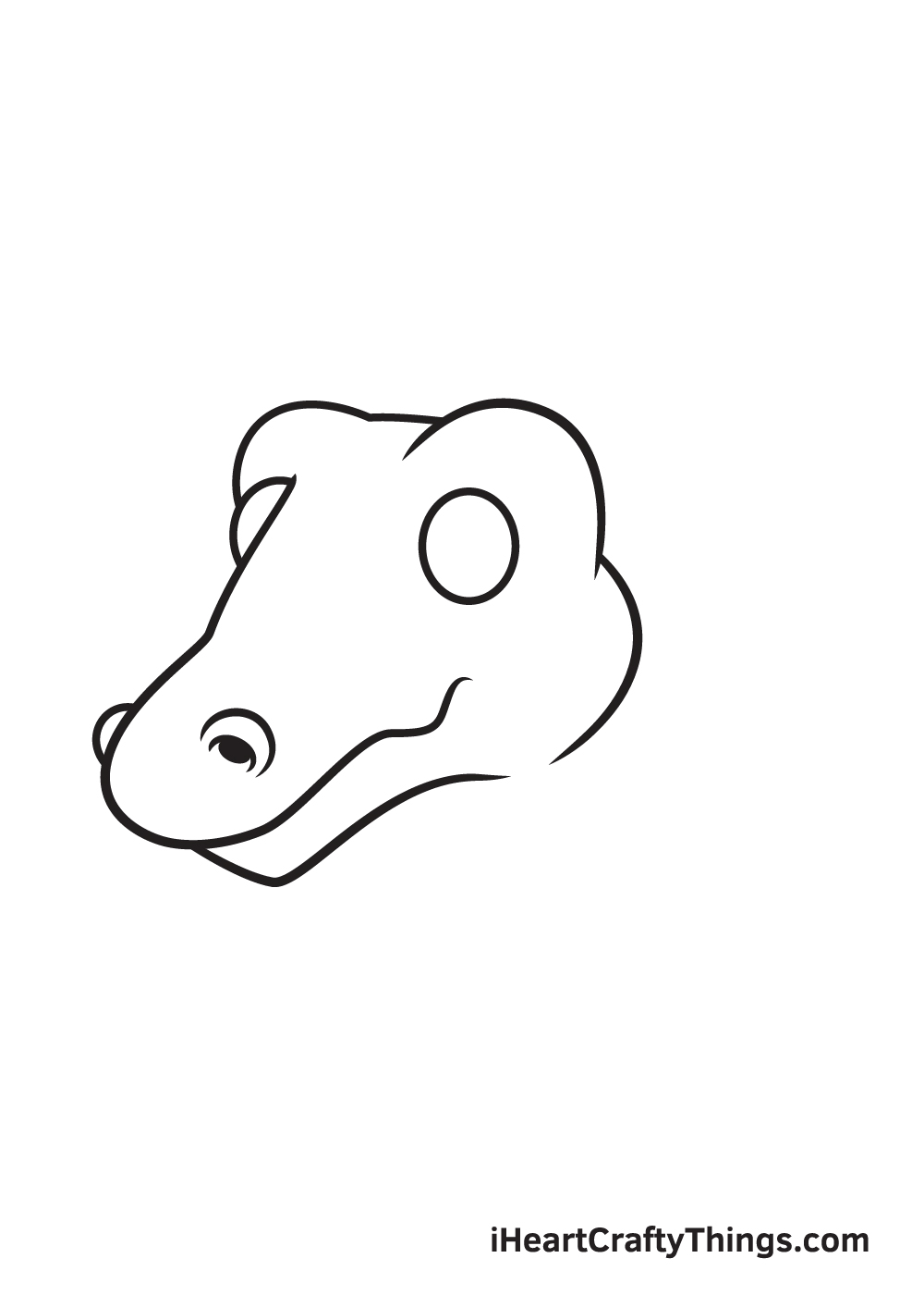 dragon head drawing - step 4