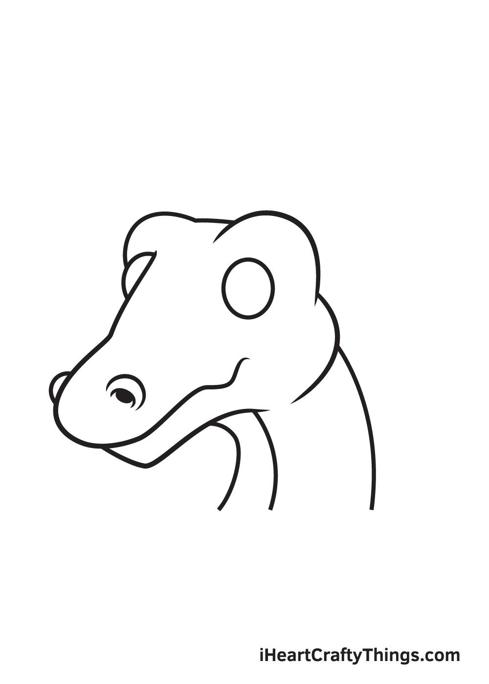 dragon head drawing - step 5