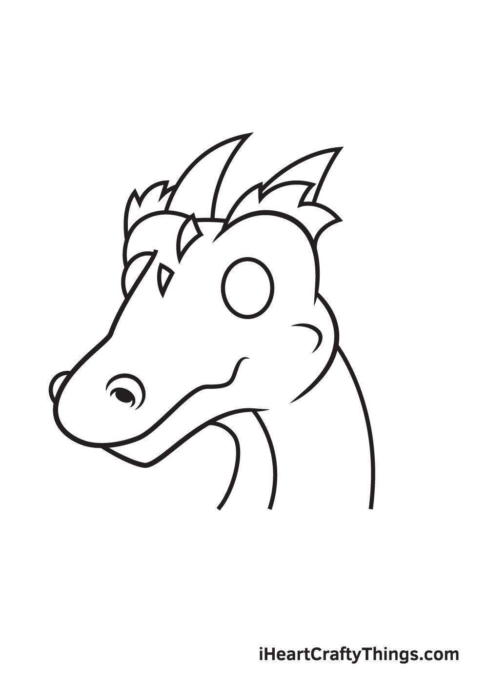 dragon head drawing - step 7