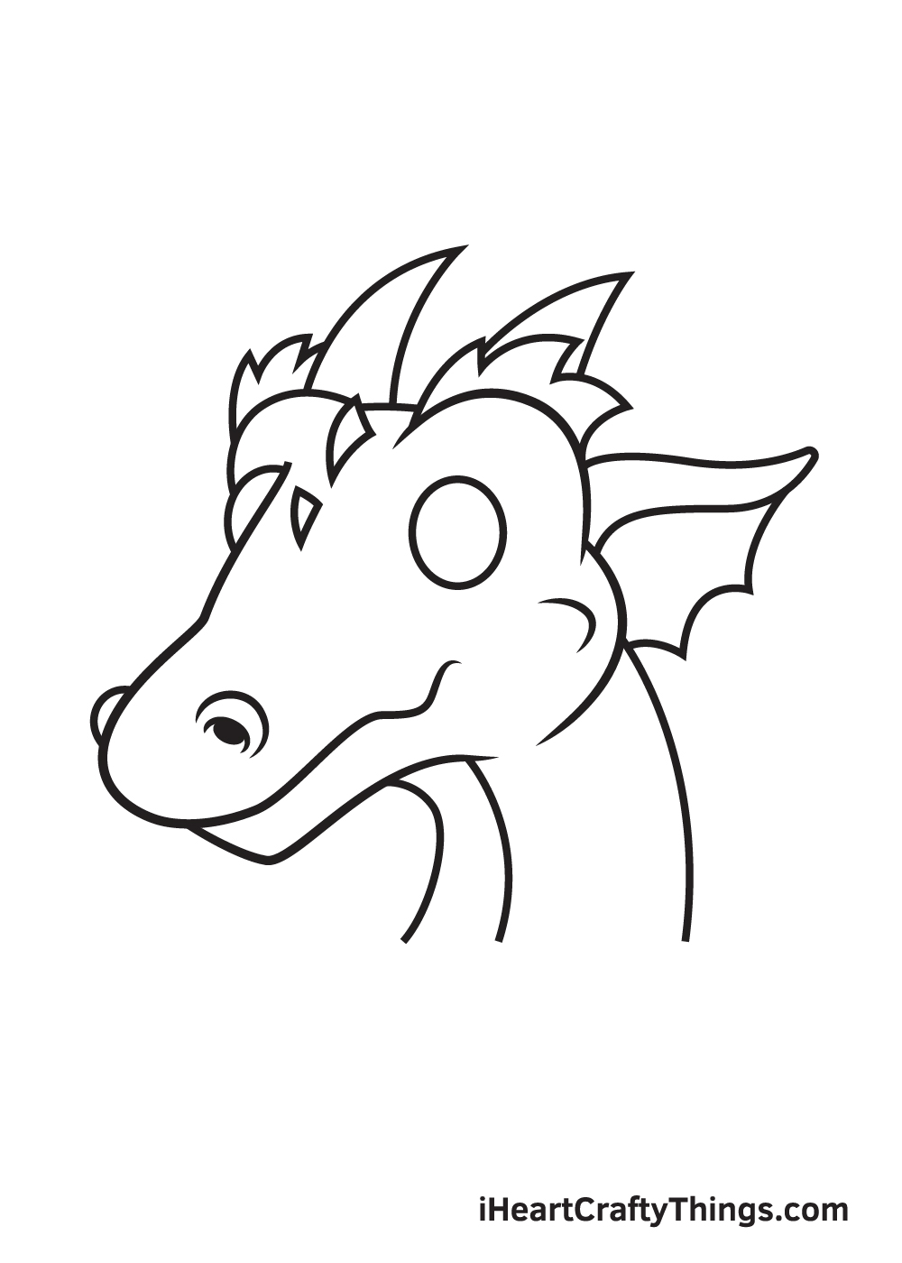 dragon head drawing - step 8
