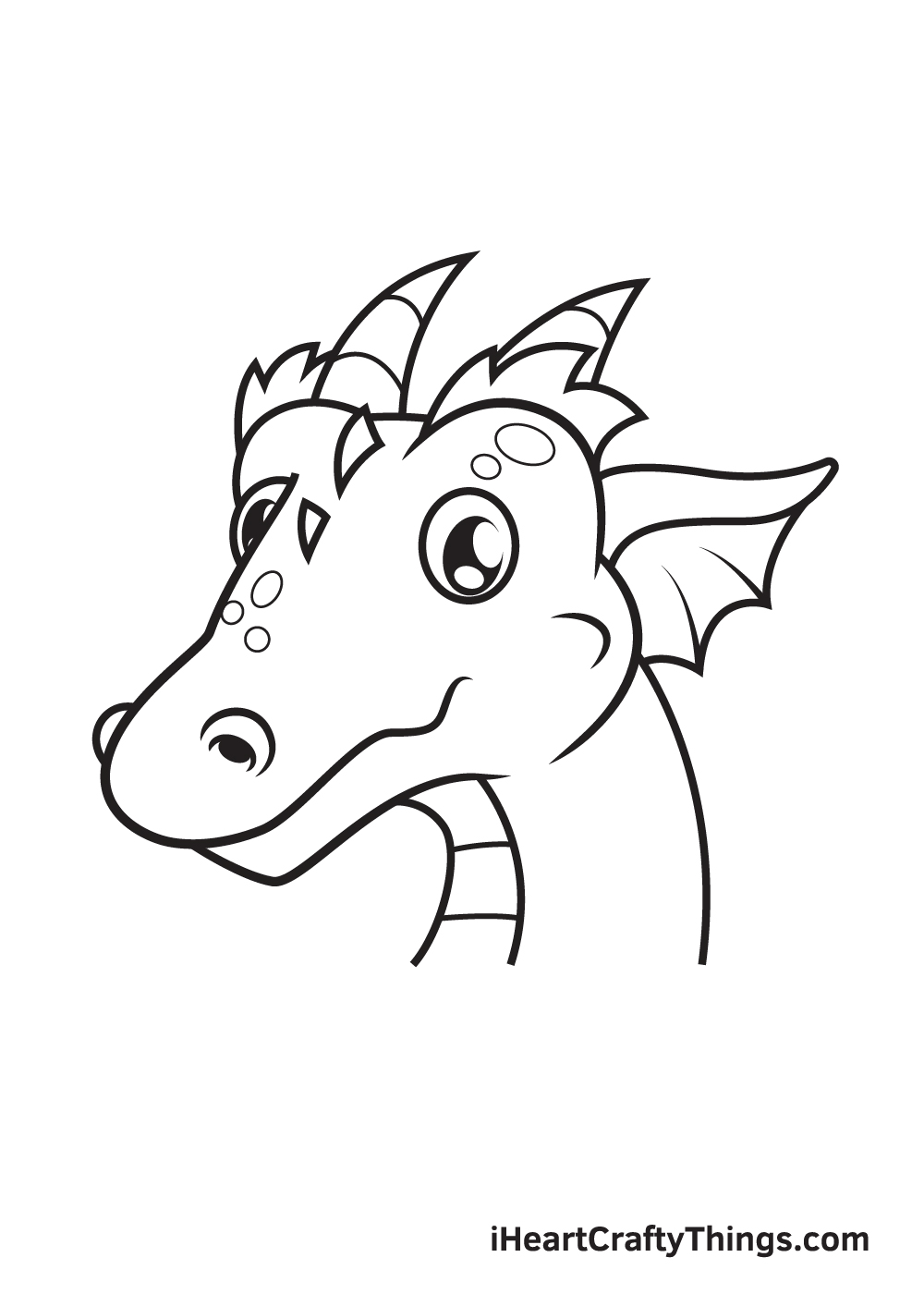dragon head drawing - step 9