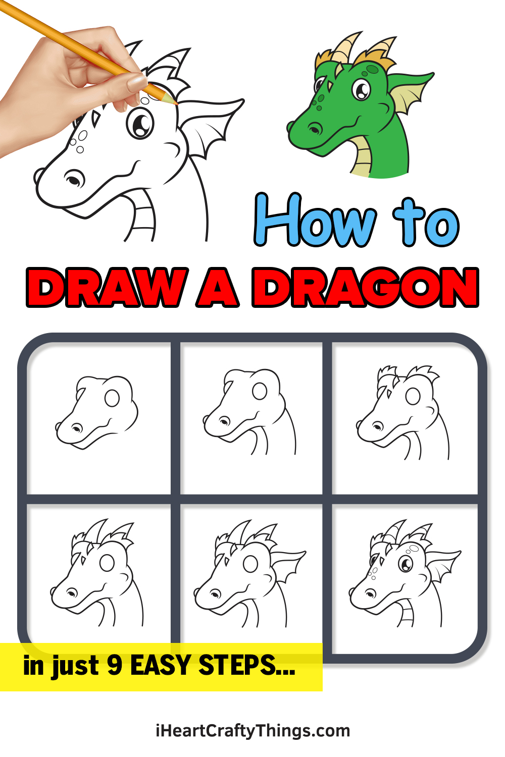 how to draw a dragon in 9 easy steps