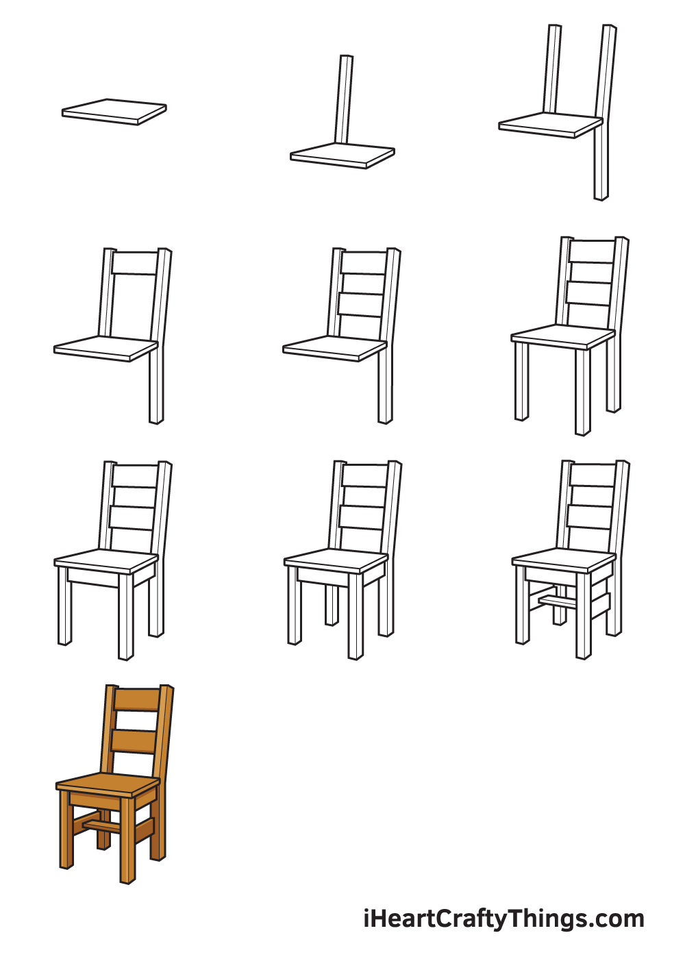 Drawing Chair in 9 Easy Steps