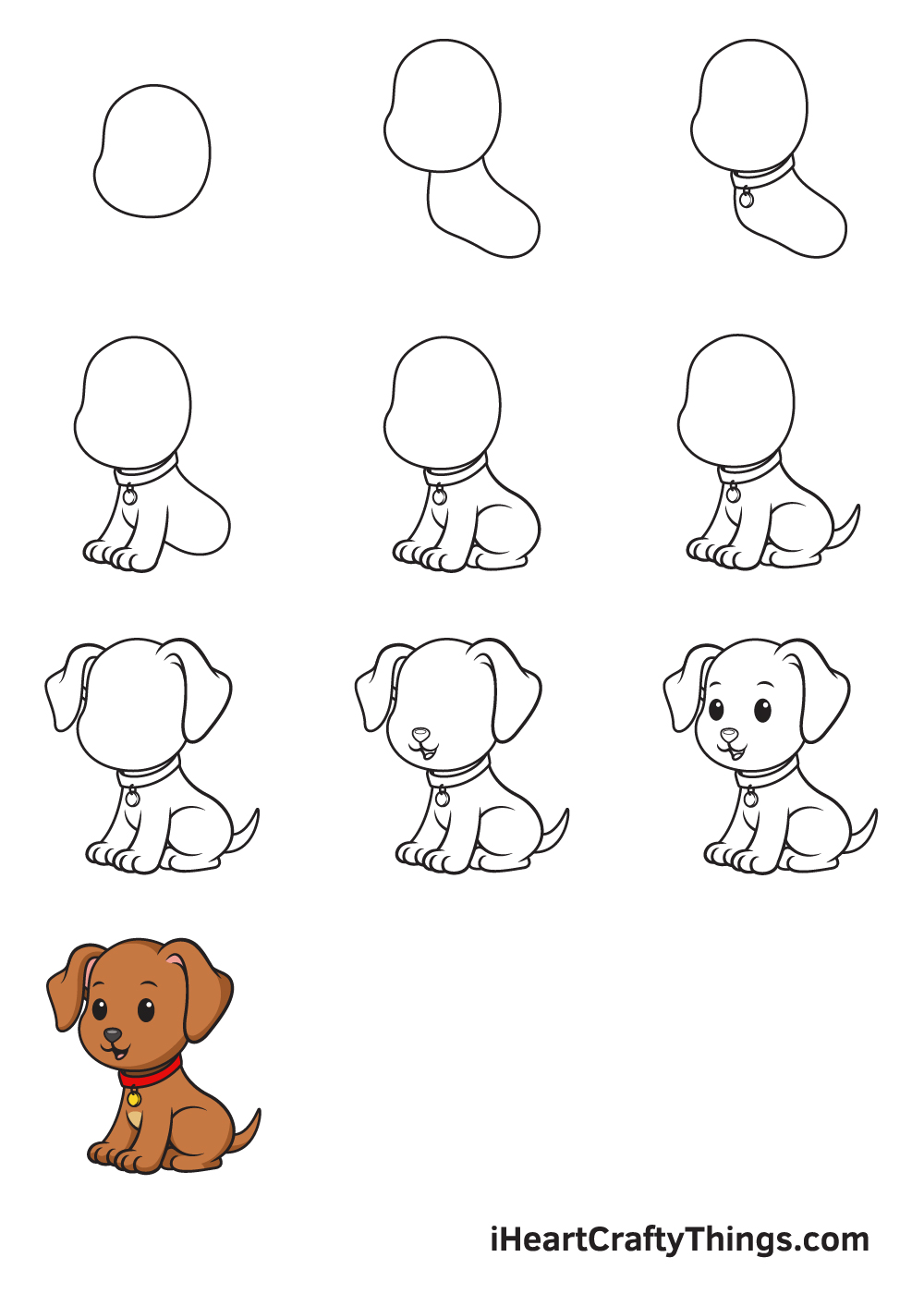 drawing dog in 9 easy steps