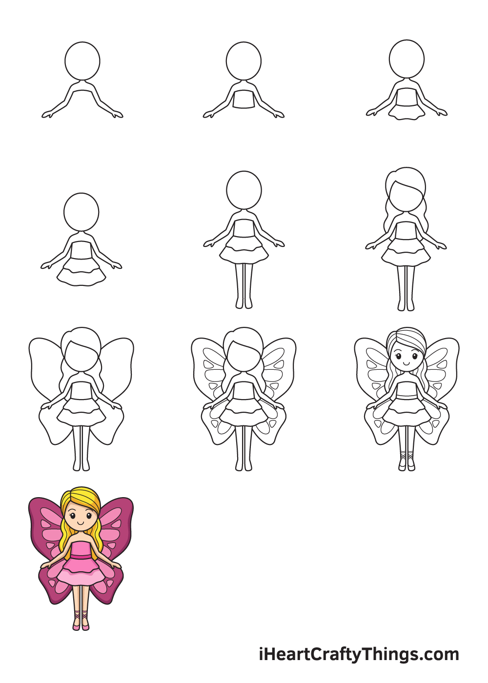 Drawing Fairy in 9 Easy Steps