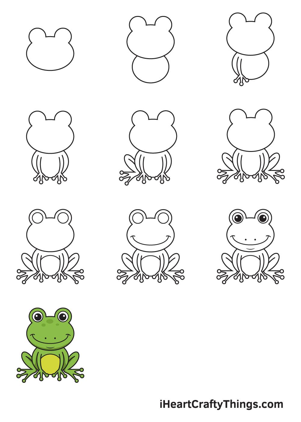 Drawing Frog in 9 Easy Steps