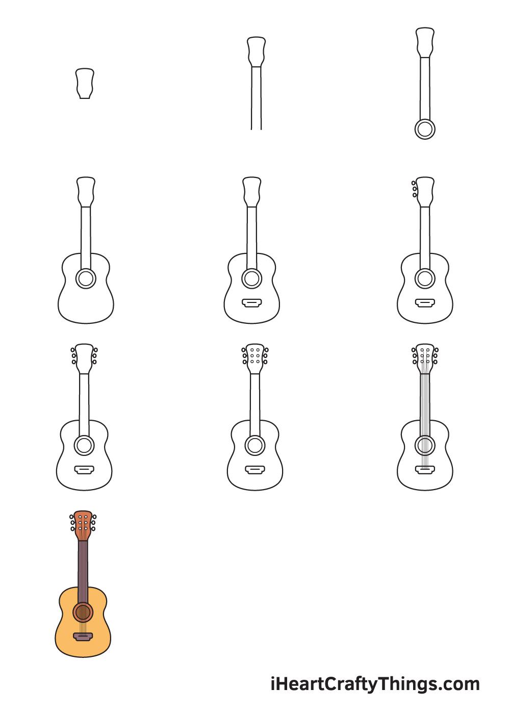 Vẽ đàn guitar trong 9 bước đơn giản