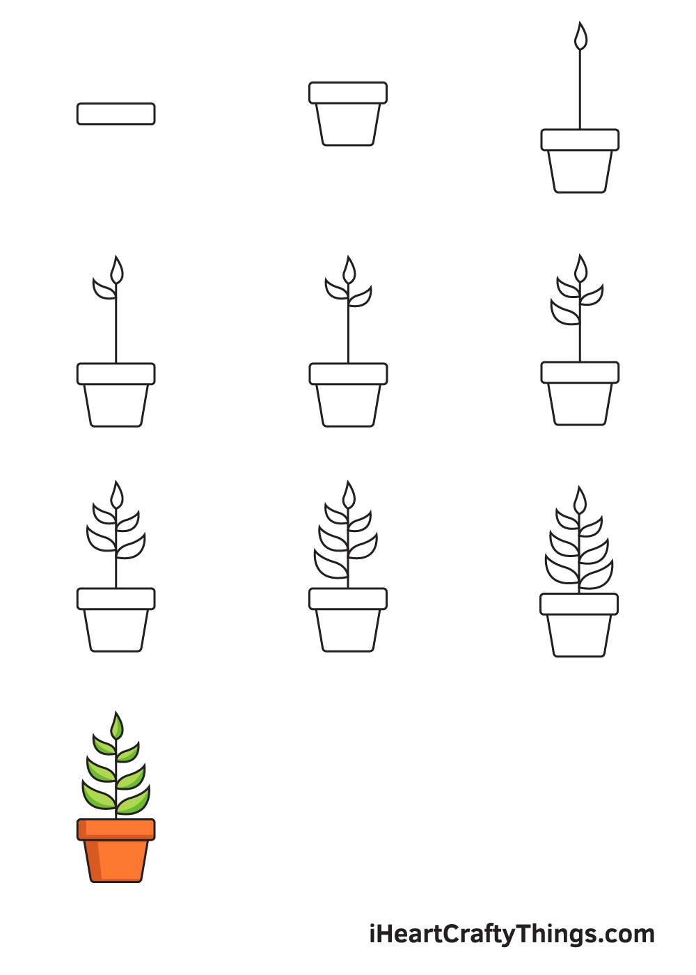 Drawing Plant in 9 Easy Steps