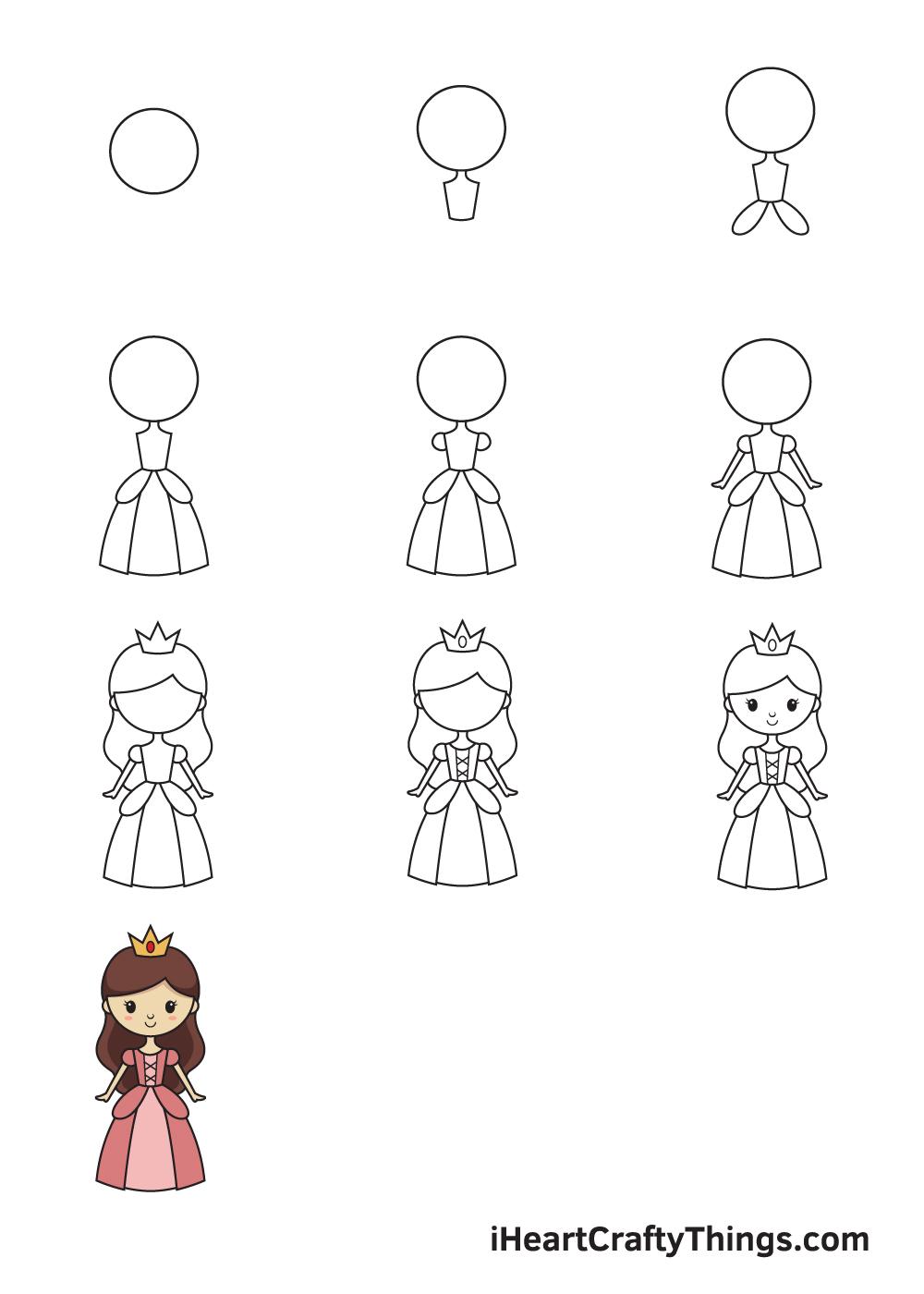 Drawing Princess in 9 Easy Steps