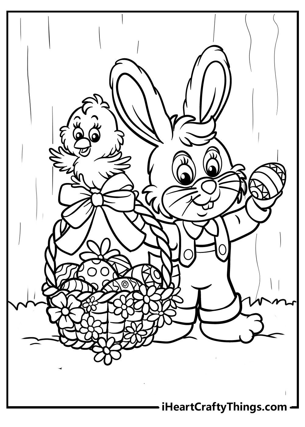 easter bunny coloring pages free printables