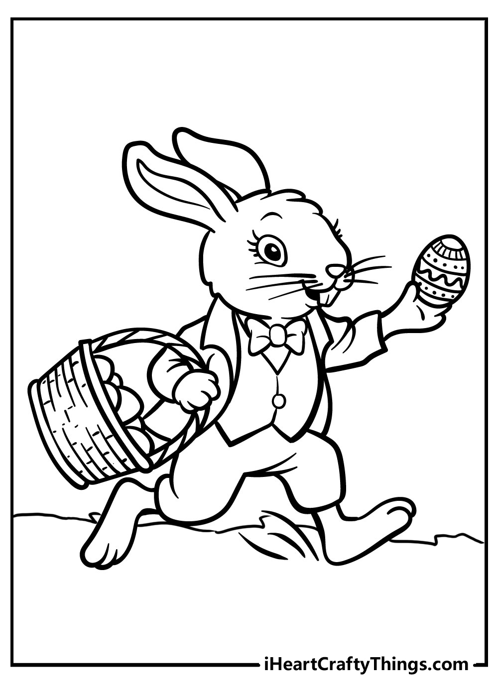 easter bunny coloring pages for kids free