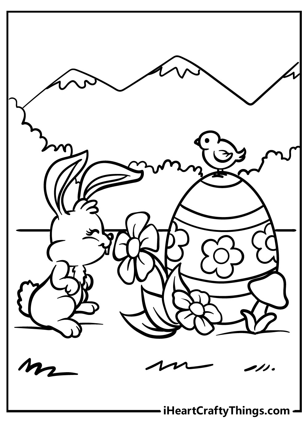 easter bunny coloring pages for adults free