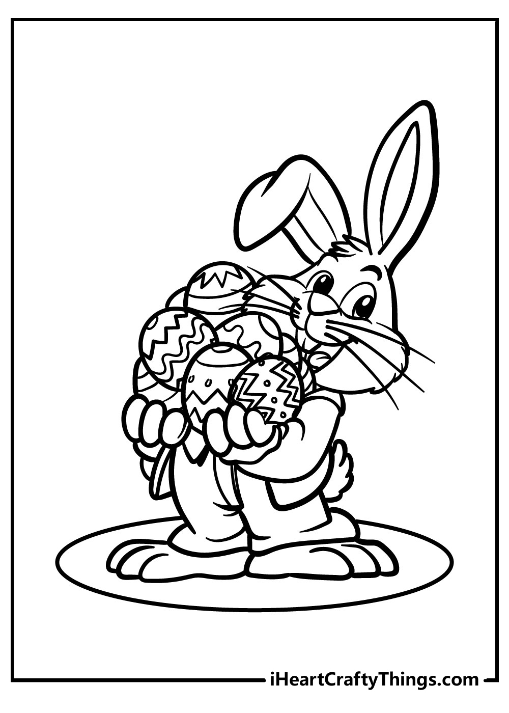 hard easter bunny coloring pages free download