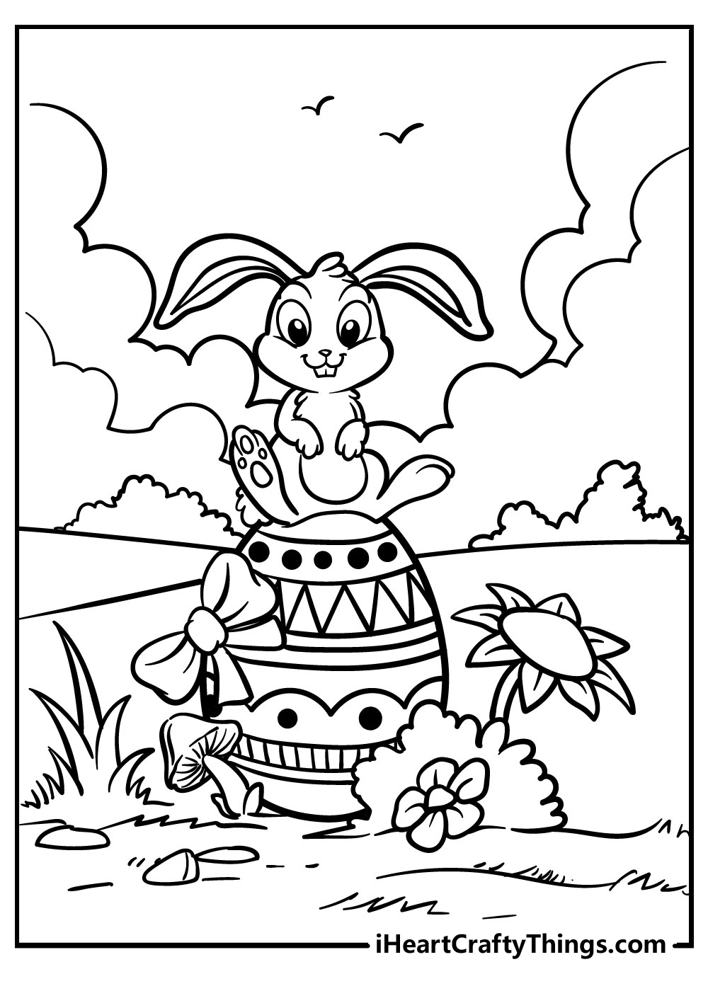 easter bunny coloring pages for preschoolers
