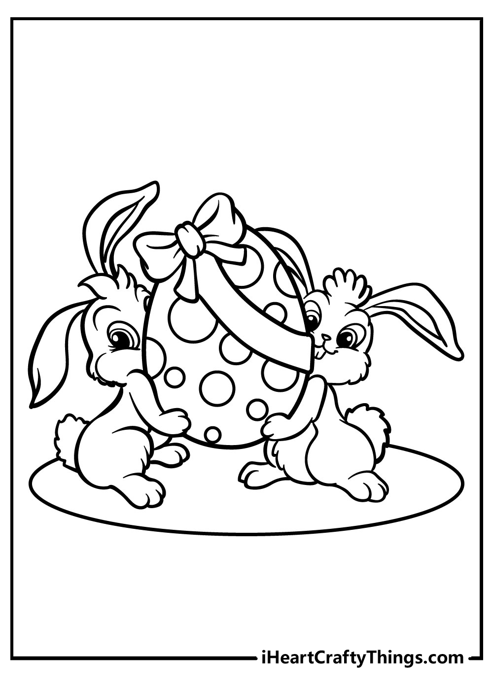 easter bunny egg gift coloring pages free printables