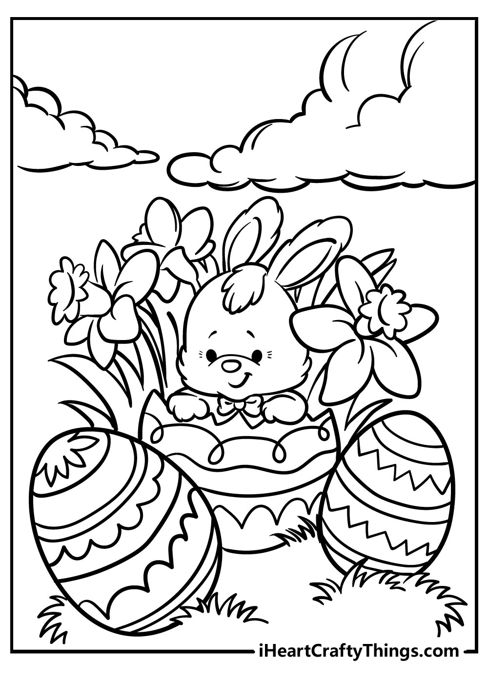 sweet easter bunny coloring pages free printables