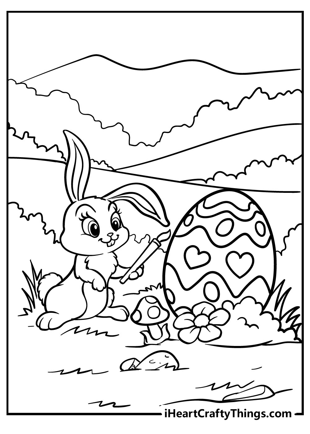 realistic easter bunny coloring pages free download