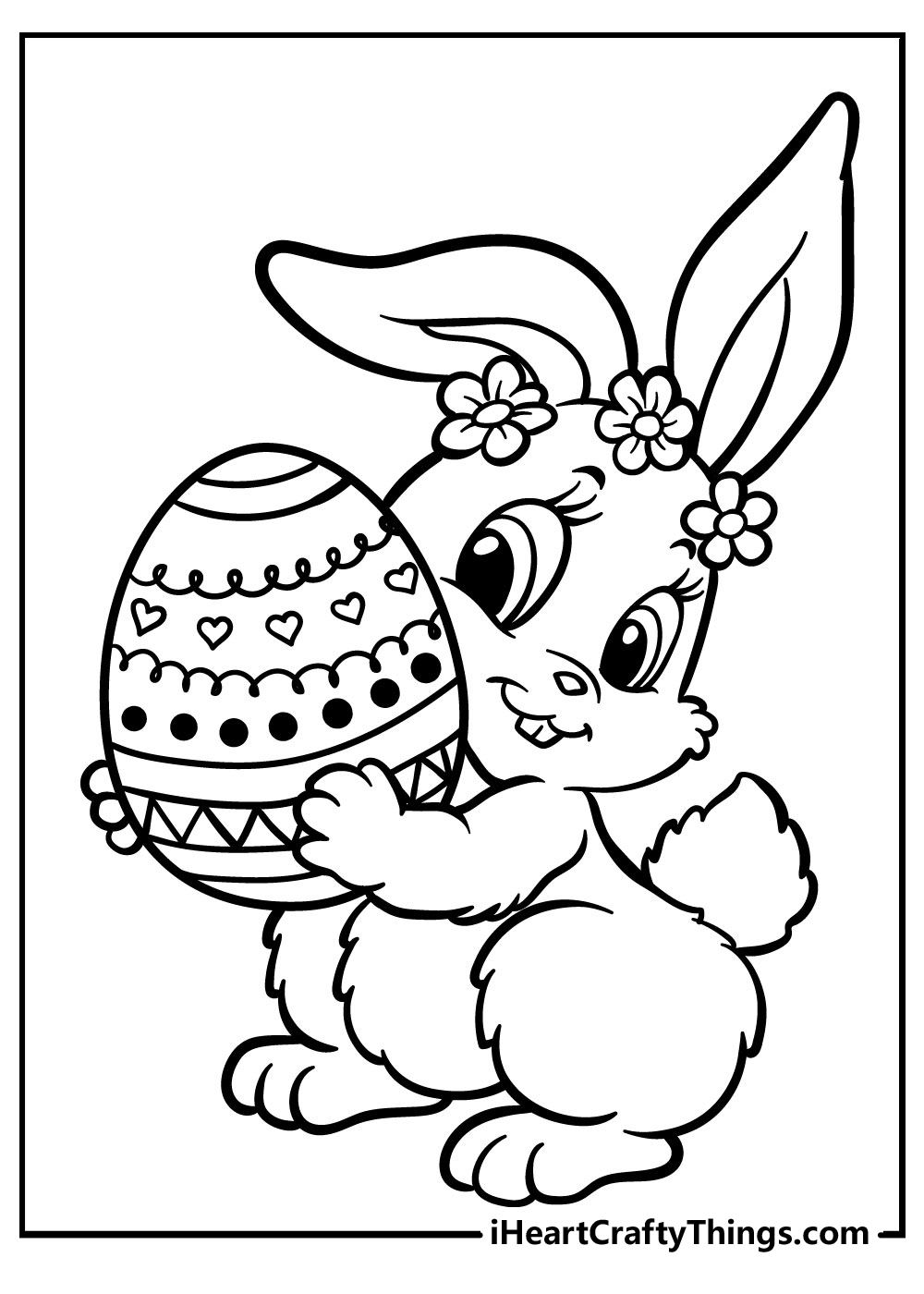 easter bunny in love coloring pages free download