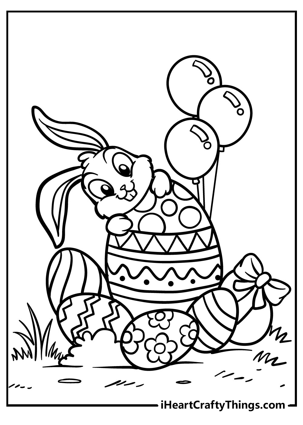 happy easter bunny coloring pages free printable