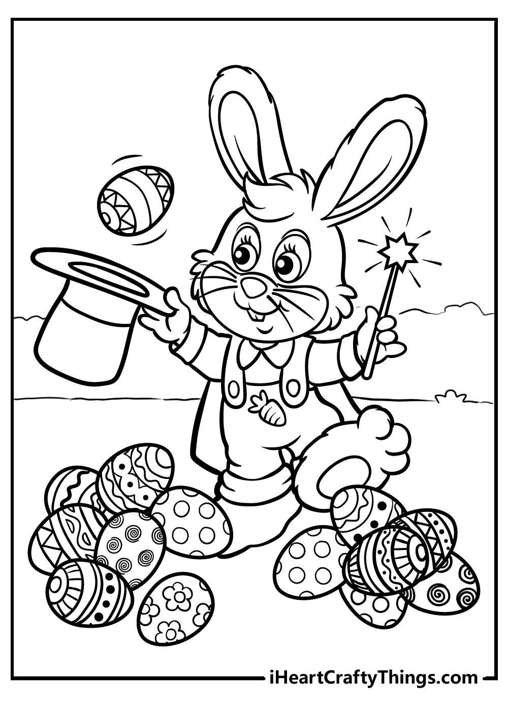 easter bunny coloring sheets free printables