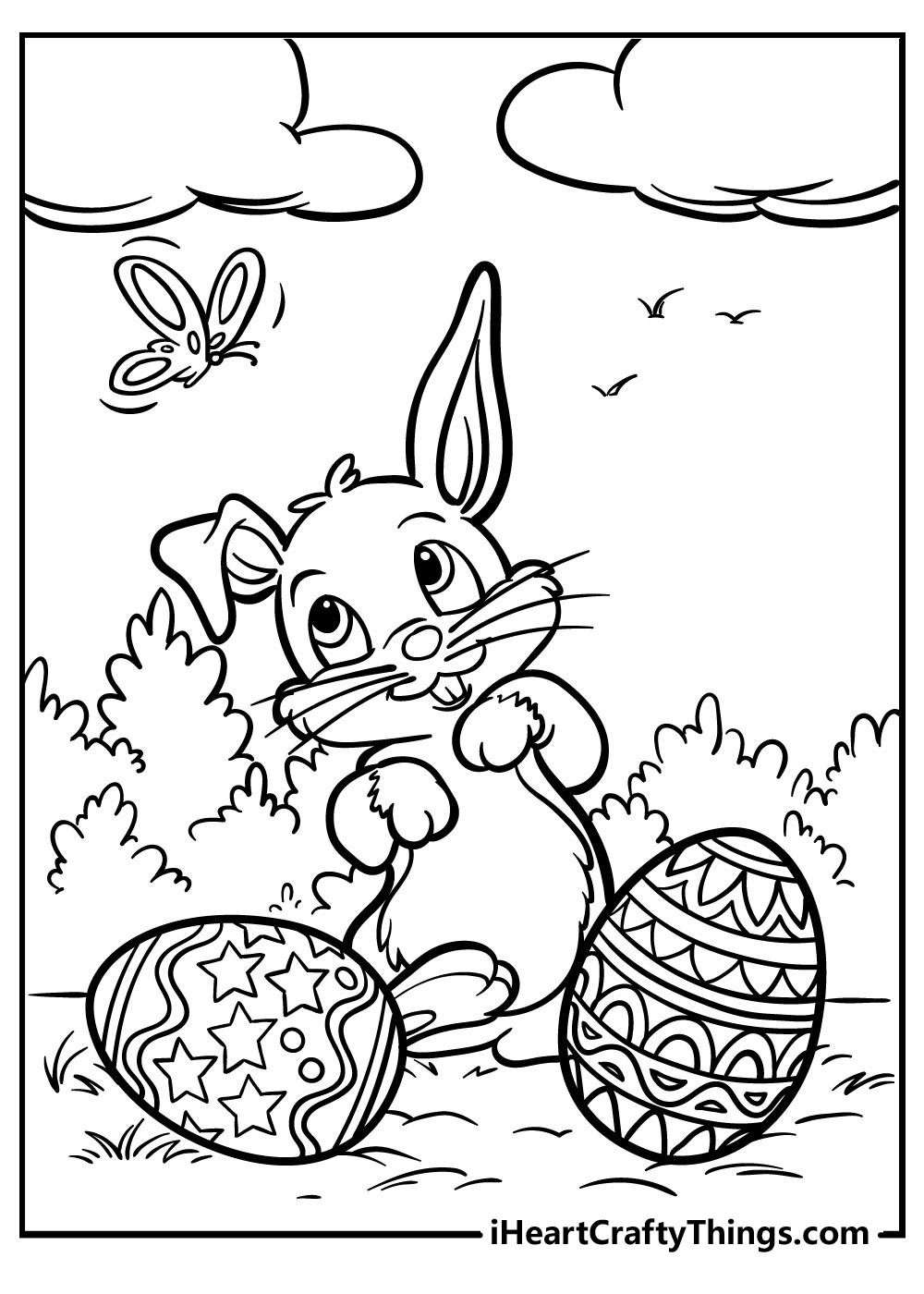 funny easter bunny coloring pages free download