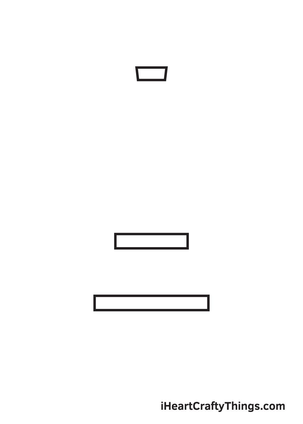 eiffel tower drawing - step 1