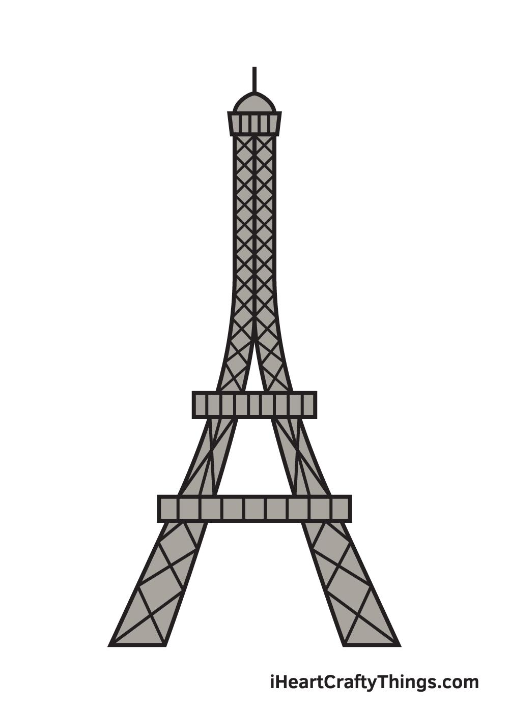 Eiffel Tower drawing - 9 steps