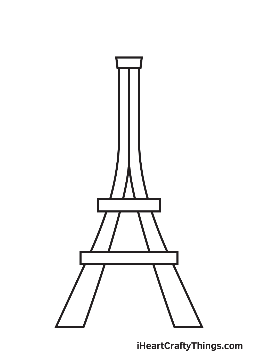 Eiffel Tower drawing - step 4