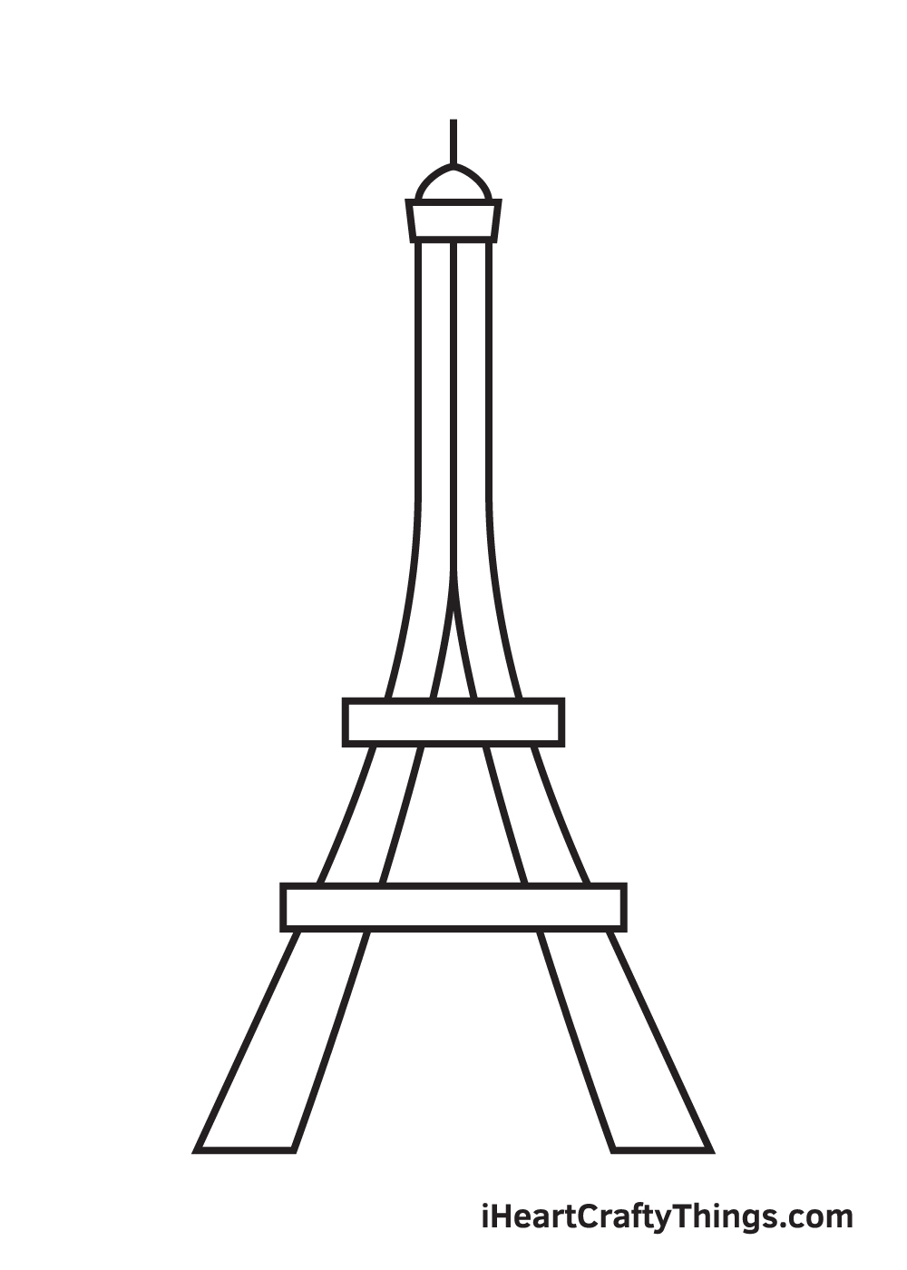 Eiffel Tower drawing - step 5