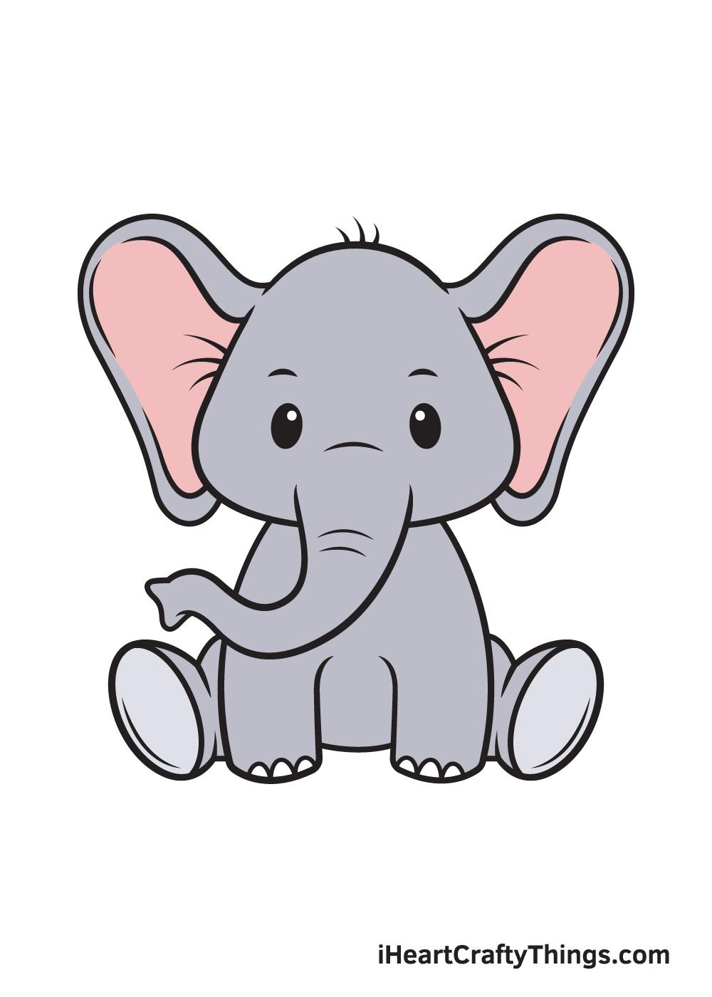 Elephant Drawing – 9 Steps