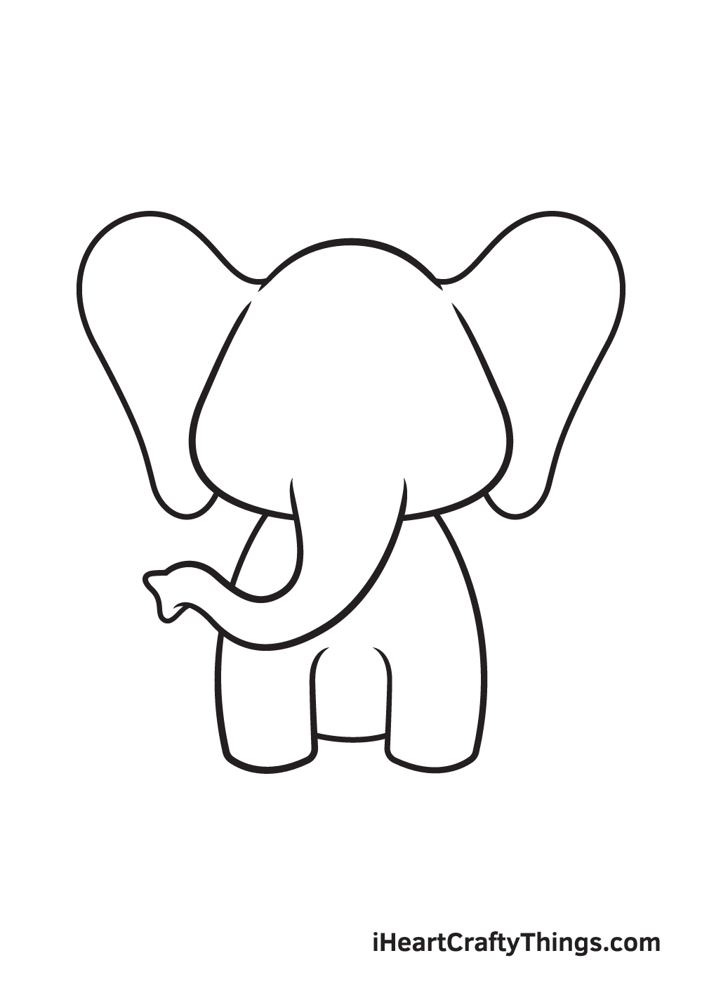 Elephant Drawing – Step 5