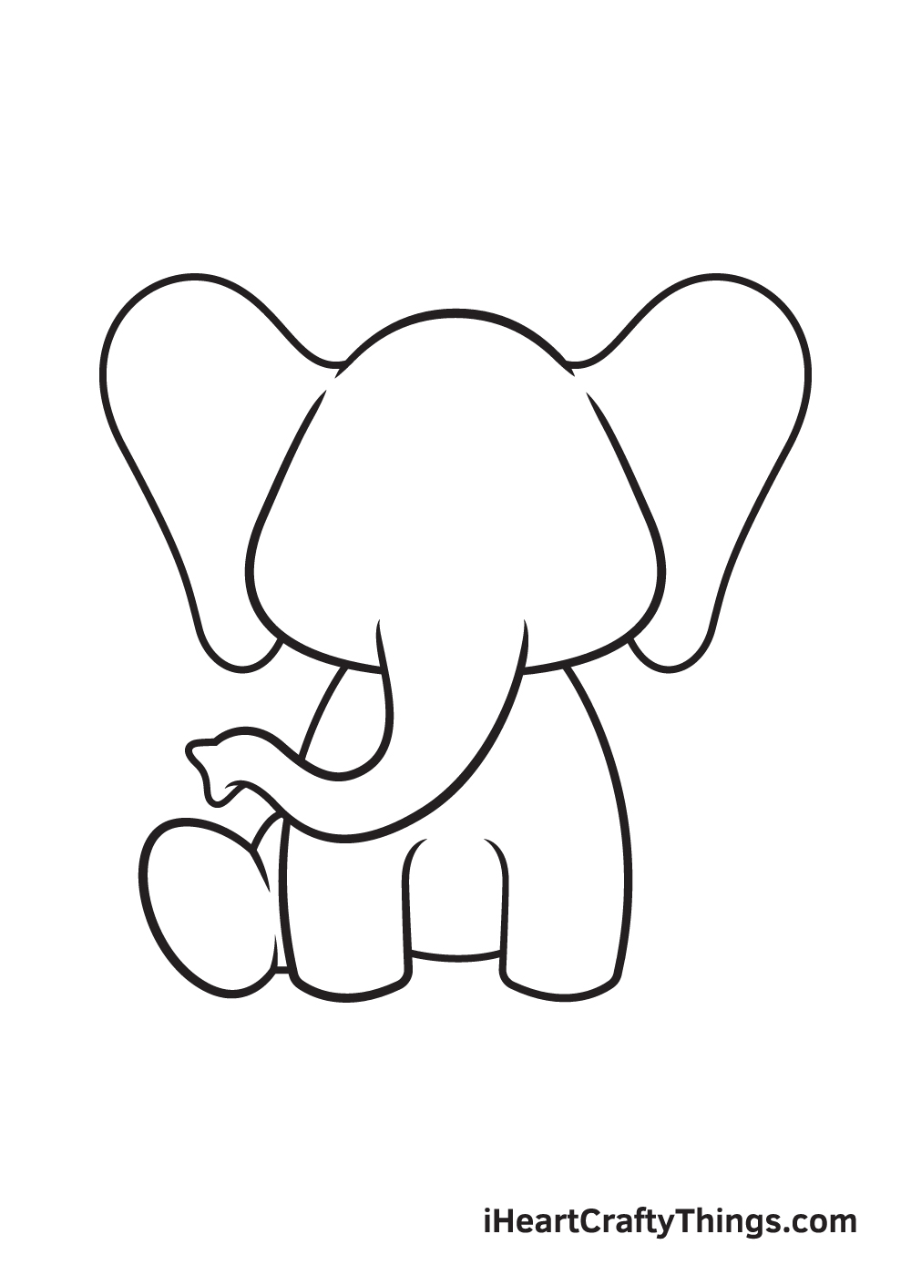 Elephant Drawing – Step 6