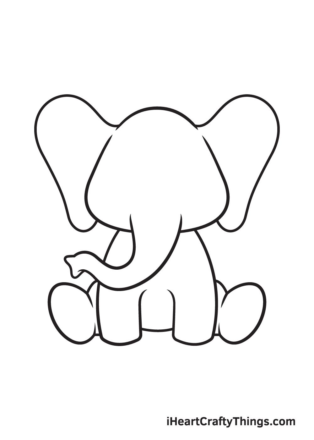 Elephant Drawing – Step 7