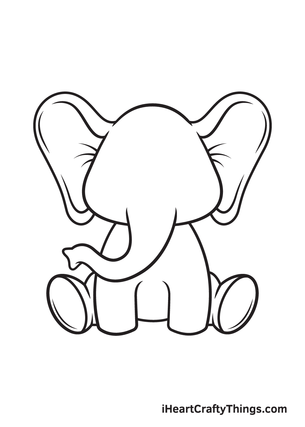 Elephant Drawing – Step 8