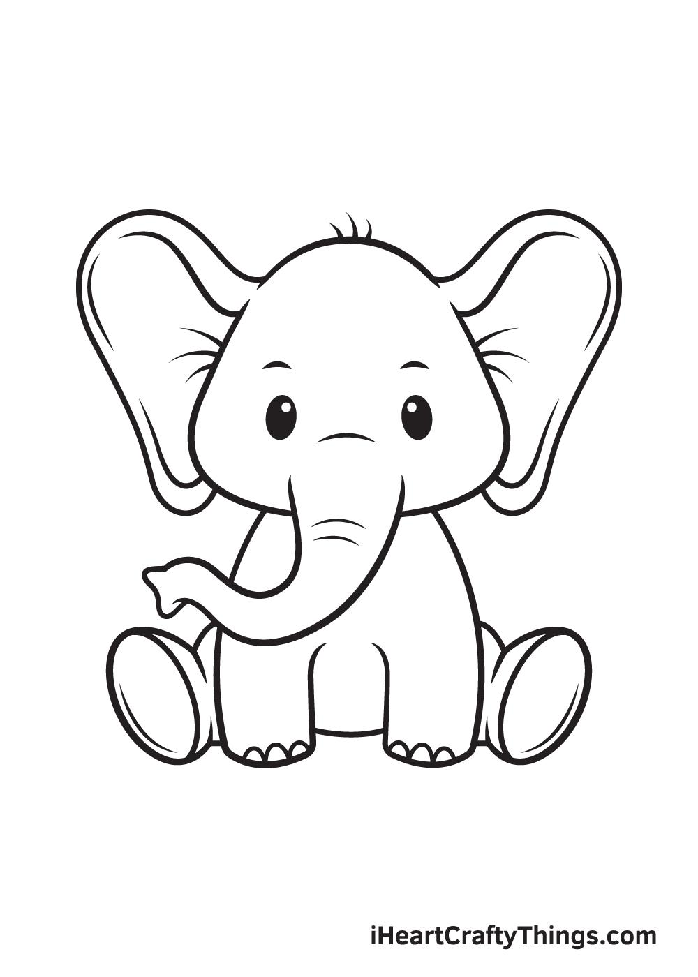 Elephant Drawing – Step 9