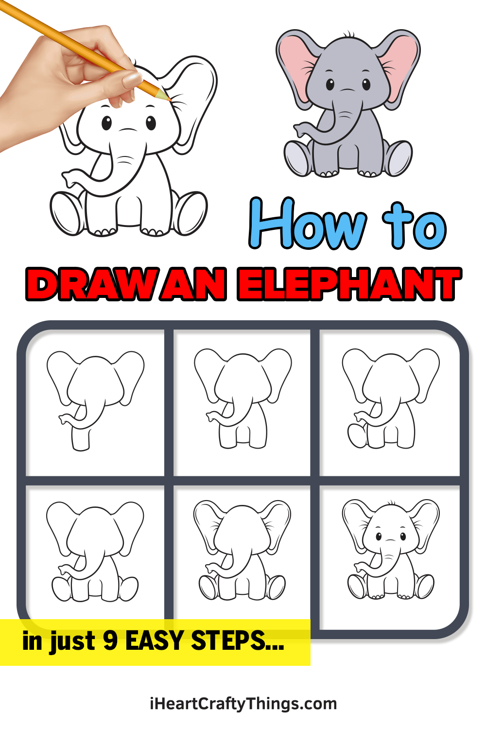 How to Draw an Elephant in 9 Easy Steps