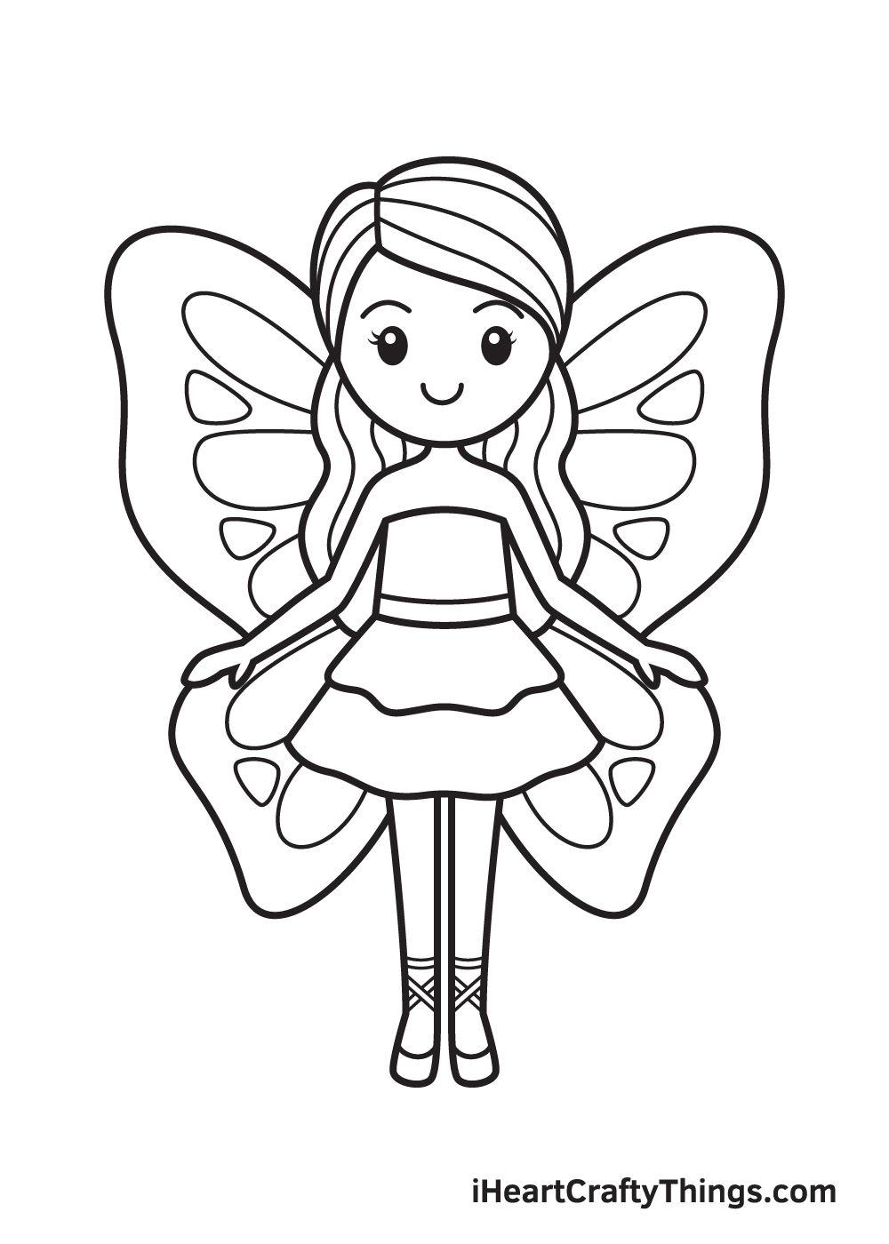Fairy Drawing – Step 9