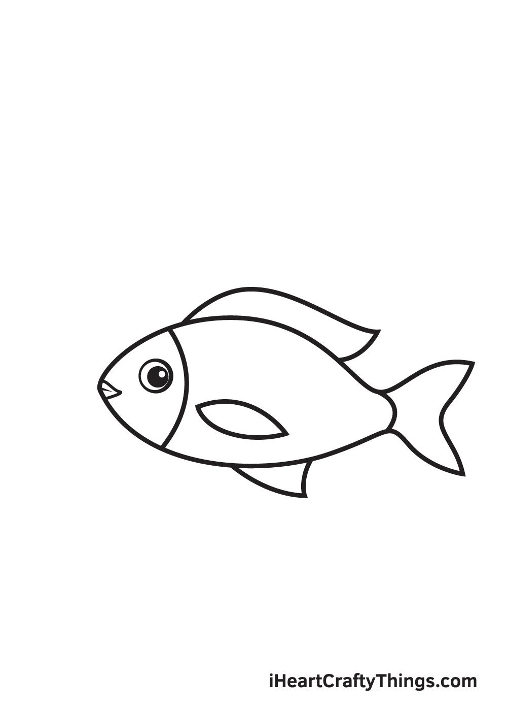fish drawing - step 7