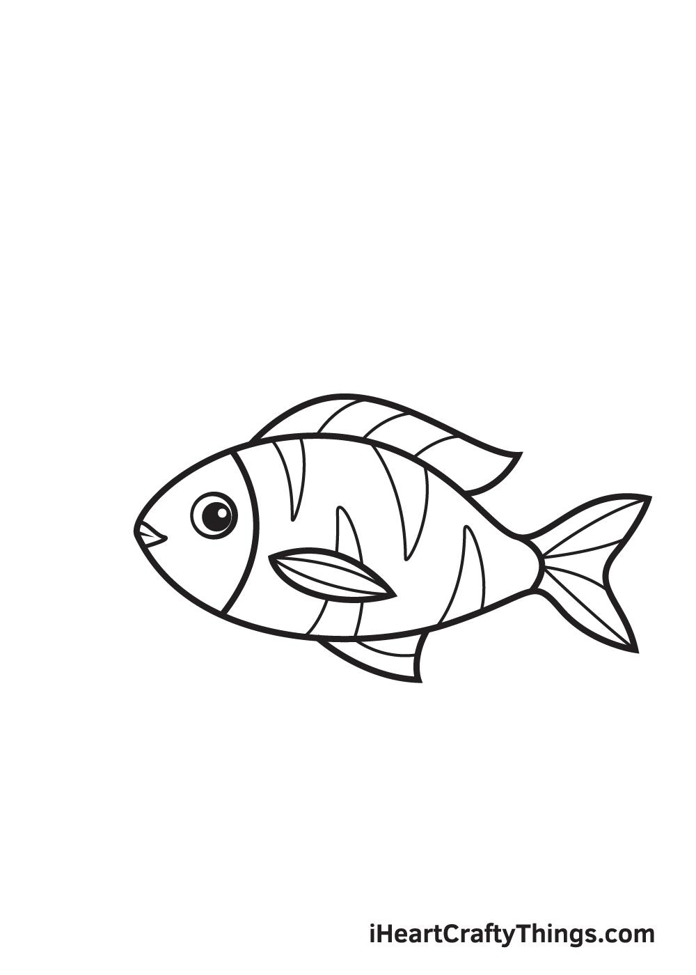 fish drawing - step 8